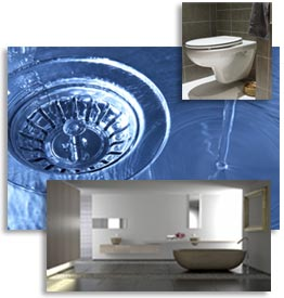 collage of plumbing images